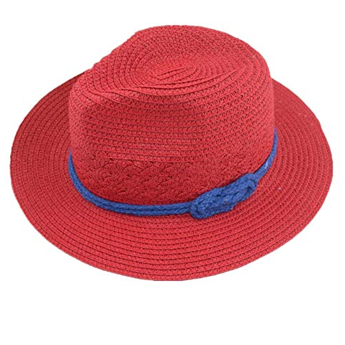 Gorro Playa Mujer Sombrero Playa Mujer Sombreros de Sol Sombrero de Paja Sombrero de Paja Sol Sombrero para Mujer Sombreros de Verano Red,Freesize