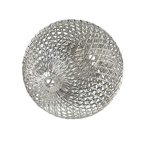Kaheku Dekokugel Brano Edelstahl Silber Weihnachten modern skandi d10 cm