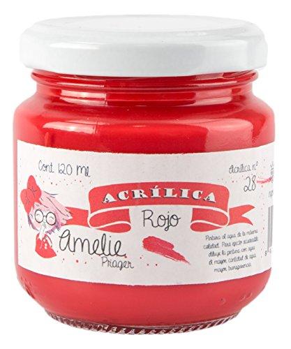 Amelie Prager AM120-28 Pintura Acrílica, Rojo, 120 ml