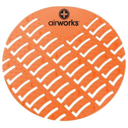 Hospeco - CC-007 Airworks AWUS007-BX Urinal Deodorizer Screen Mango Orange (Box of 10)