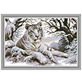 PHILSP Tiger DIY Costura Hecha a Mano contada 14CT Impreso Kit de Bordado de Punto de Cruz Set Decoración del hogar