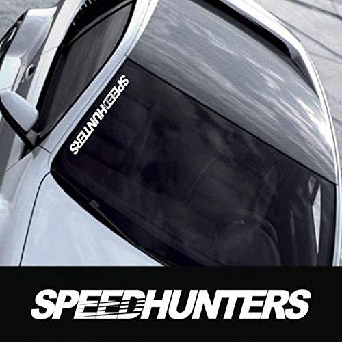 ARWY Speedhunter car Decal Sticker, for Bumper, Window Mirror (White Colour)