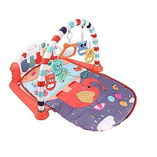 LHNEREGLHNEREG Gimnasio Piano Infantil 3 En 1, Almohadilla Juego Bebés Recién Nacidos Kick and Play Música, Alfombrilla Juguetes Educativos Temprana, Regalo Bebés,B