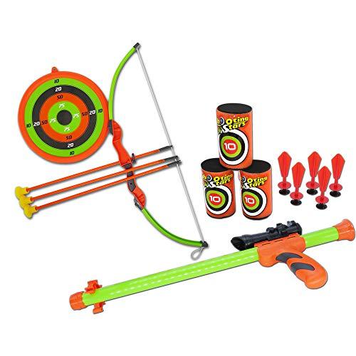 LITTLEFUN Super 2-in-1 Children Kids Archery Toy Set Bow Arrow Target...