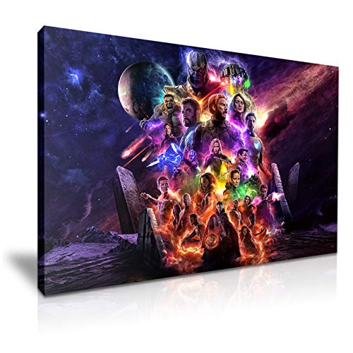 Avengers-Endgame Black Widow Thor Captain America Bruce Banner Thanos Poster, 76 x 50 cm