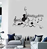 Vinyl Decal Wall Sticker Music Notes and Guitars Musical Party Living Room Salon Decor (z1268i) (M 22.5 in X 35 in)