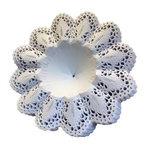 Biedermeier Manschetten weiß 25 Stück Größe 12 Papiermanschetten Blumenmanschetten...