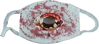 Halloween Horror Mask Zombie Zombie Vampire Dress Up Horror Bleeding Decoration, 18×12.5cm happyL