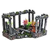 LIUXING-Home Fish Tank Decoration Interesante Columna Creativo Ornamento Resina Ruinas Romanas Paisaje del Acuario decoración del Acuario Decoration Accessories (Color : Painted, Size : 23x16x13cm)