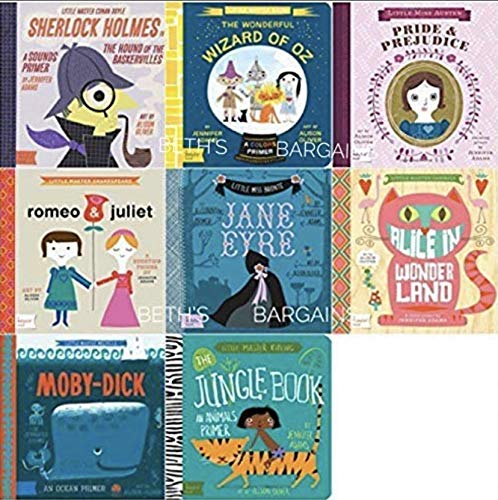 Compare Textbook Prices for The Classic Baby Lit Collection Boxed Set - Romeo & Juliet, Wizard of Oz, Sherlock Holmes, Pride & Prejudice, Moby Dick, Jane Eyre, Alice in Wonderland, Jungle Book  ISBN 9781423645733 by Suzanne Gibbs Taylor