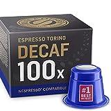 10 x 10 Decaf Nespresso Compatible Pods - Decaffeinated Espresso Torino Capsules