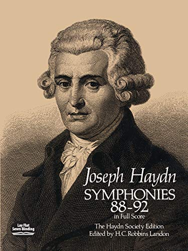 SYMPHONIES 88-92 IN FULL SCORE: The Haydn Society Edition (Dover Music Scores)