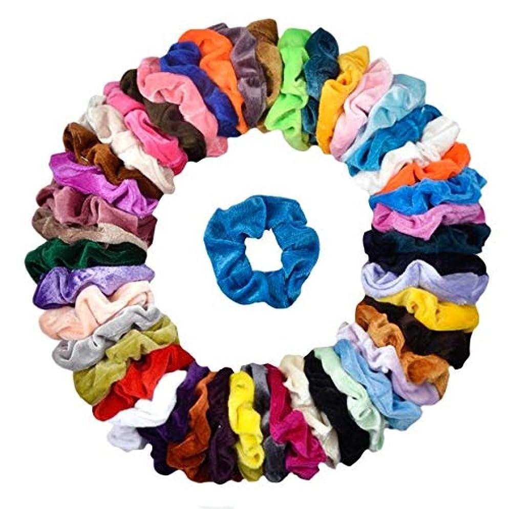 Cehomi 46Pcs Hair Scrunchies Velvet Elastic Hair Bands Scrunchy Bobbles Soft Hair Ties Ropes Ponytail Holder No hurt, Soft for Women or Girls Hair Accessories