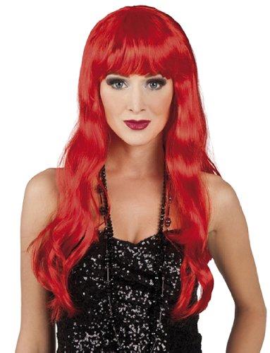 Boland 85872 – Perruque Chic, Cheveux Longs avec Frange, Rouge
