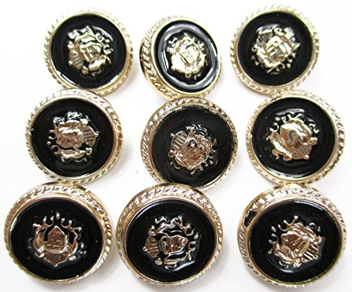 """ALL in ONE 10pcs Vintage Antique Buttons With Shank For Sewing And Crafts 16mm (0.63"""")"""