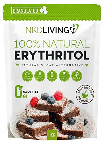 100 % érythritol naturel, 1 kg   Granulé substitut au sucre avec ZÉRO calorie