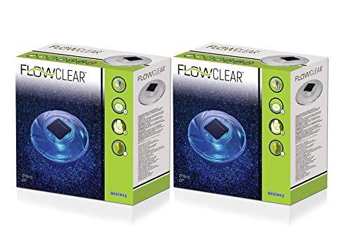 Bestway Flowclear™ Schwimmende Solar-LED-Poolleuchte (2 Stück)