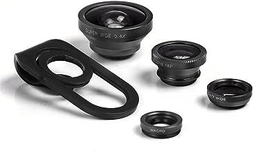 HD Mobile Phones Camera Lens, Megadream 2 in 1 Macro Lens + Super Wide Angle Lens + CPL Lens Camera Lens Kit Universal Professional Digital SLR Pro Lens Kit for iPhone Samsung Tablet-Black