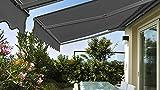 Oviala Store banne avec Semi Coffre 2,5 x 2 m