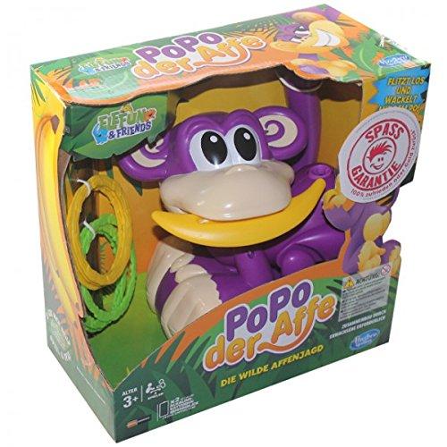 Hasbro A2043 Popo der AFFE die Wilde Affenjagd Spiel Kinder Ringe werfen Aktionsspiel