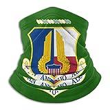 huatongxin Air Force San Antonio ALC Vinilo Transfer Cálido y resistente al viento Calentador de cuello