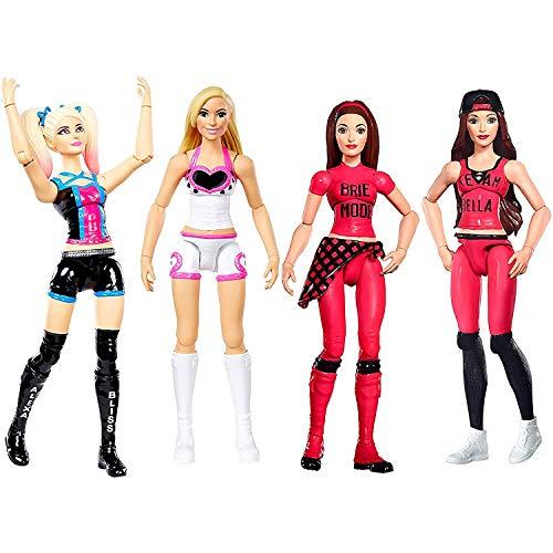 Women of WWE Superstars Action 6' Dolls 4-Pack Collection- Nikki Bella, Brie Bella, Natalya, Alexa Bliss