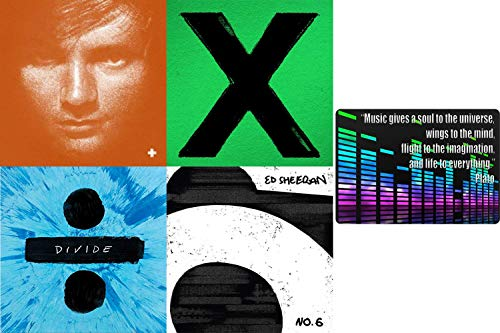 Ed Sheeran: Complete Studio Album Discography CD Collection with Bonus Art Card (No. 6 Collaboration Project / Divide and More)