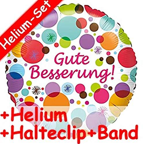 Folieballonset, goede verbetering, helium vulling, houdclip en band, opgeblazen met ballongas, decoratieve verjaardagsfolie, ballon, luchtballon, gezondheid ziekenhuis