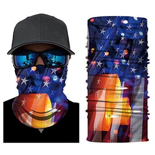 MOTOCO Face Shields Bandana Motorrad Schlauchtuch Multifunktionstuch Halstuch Dünner Schlauchschal mit Muster Unisex Radfahren Fischen Wandern(25X50CM.L)