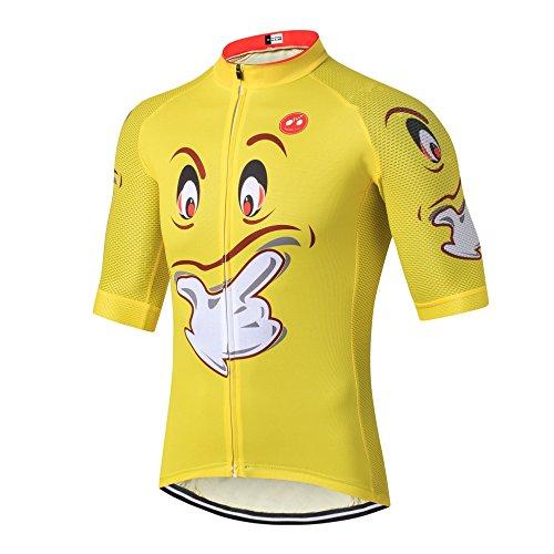 Weimostar Mountain Cycling Jersey Mens Bike Shirt manica corta S-3XL, traspirante e ad asciugatura rapida