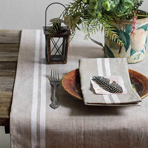 Leinen Tischläufer - Läufer - Tischband - Tischtuch - Landhaus - Farbe Beige - 50 x 200 cm/Varvara Home 1584