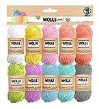 Ursus ovillos de lana pastel g/29 m, 10 colores para tejer y hacer ganchillo y pequeños proyectos de manualidades, talla única