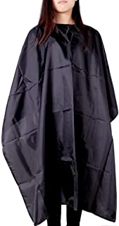 AASA Hair Cutting Sheet Cape Apron Sheet for Men and Women for Salon Use in Black Color Pack of 1 (Cutting Sheet)