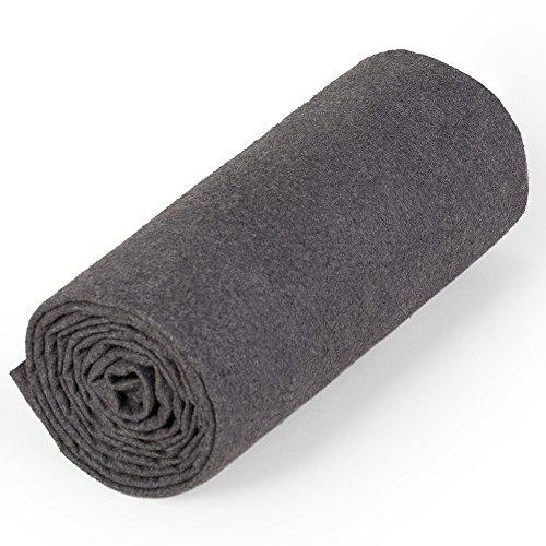 nu:ju® Serviette de sport/fitness, serviette de voyage en microfibres argent ionisé, 1 petit lot (50 x 100 cm) avec sac fourni. Légèreté - absorbant - résistant - lavable jusqu'à 95