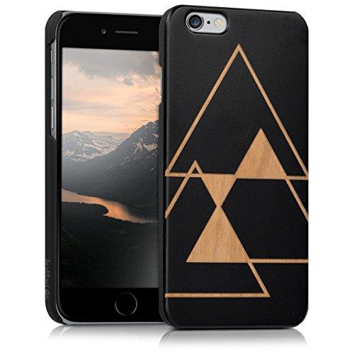 kalibri Cover in Legno Compatibile con Apple iPhone 6 / 6S - Custodia in Legno Premium per Cellulare - Case con Parte in plastica Triangolo