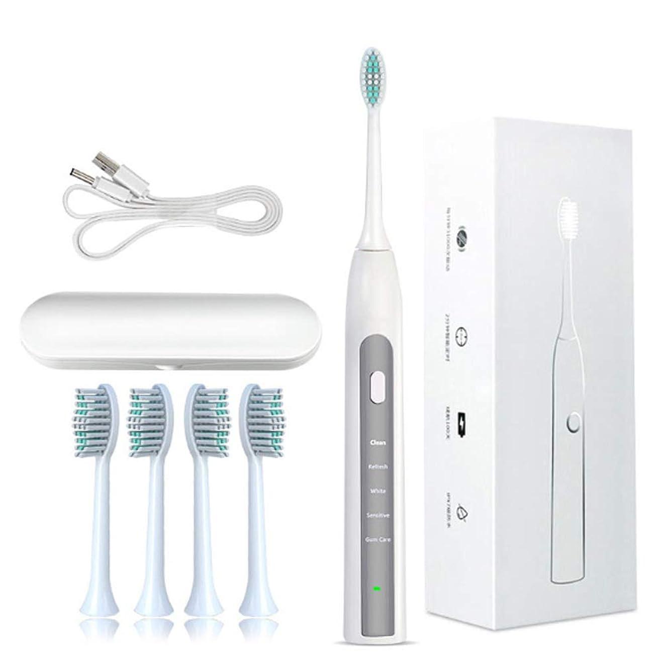 銀河不要者超音波電動歯ブラシ大人の子供の家の柔らかい毛のBluetoothのスマートな電動歯ブラシ-gray