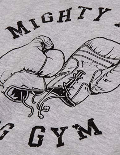 Ann Arbor T-shirt Co. Mighty Mick's Boxing Gym 1976 | Philadelphia Boxer Vintage Style Gloves T-shirt-(Adult,L)
