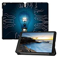 MAITTAO Samsung Galaxy Tab A 8.0 2019 Case T290 T295 T297, Slim Magnetic Leater Folio Shell Stand Cover for Galaxy Tab A 8.0 Inch Tablet With S pen Model SM- T290 SM-T295 SM-T297, Creative Bulb 12