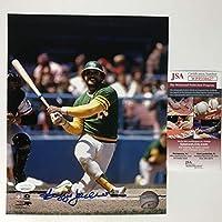 Autographed/Signed Reggie Jackson Oakland Athletics 8x10 Baseball Photo JSA COA