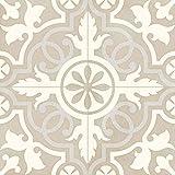 Casa Moro FL7090 - Baldosas de cerámica mediterránea de 20 x 20 cm, 1 m², de gres porcelánico vidriado con aspecto de cemento, baldosas de suelo marroquíes y azulejos de pared para baño o cocina
