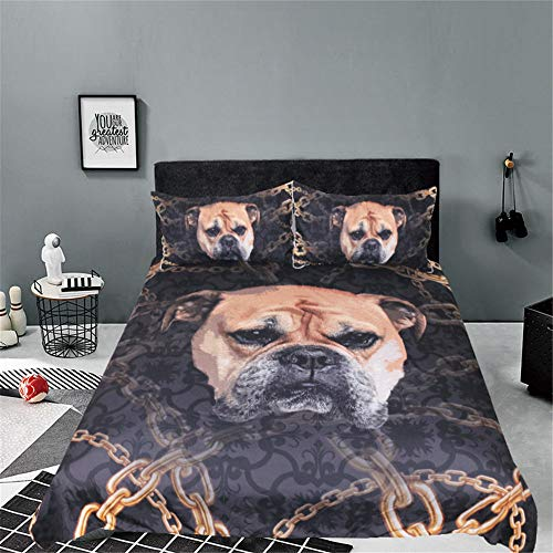 GJQDDP Pet Printing Duvet Cover, Student Dormitory Bedding, Boy And Teenager 3D Pattern Duvet Cover, Strong And Dense Fabric, Soft And Comfortable Polyester Fiber,King