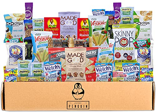 Gluten Free Snacks Care Package - 38 Count of Chips, Popcorn, Nuts, Granola Bars, Gummy Snacks, and More! Perfect for School, Office, Military, and More!