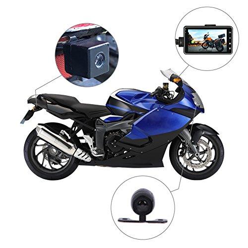 Rider Biker's Kamera, Motorrad-Action-Kamera, Sportkamera mit DVR-Armaturenbrettkamera mit spezialisierten Nuten auf der Vorder- und Rückseite und 3-Zoll-Monitor mit Bild-im-Bild-Funktion.