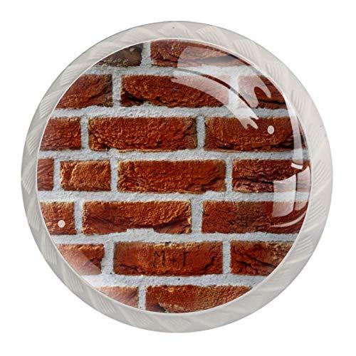 Blanco Perillas Redondas pared de ladrillo cuadrado Hecho a Mano perilla del gabinete para los cajones del tocador de la habitación infantil (con Tornillos) 35mm