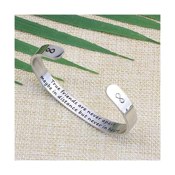 Joycuff Wide Cuff Bracelets for Women Inspirational Gift Friend Encouragement Jewelry Motivational Engraved Bangle