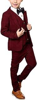 GUOCU 4PCs Wedding Formal Slim Suit Set Boy Suits Gentlemans Outfit