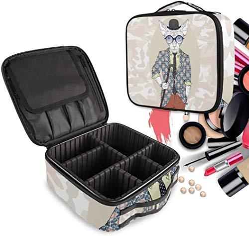 Cosmétique HZYDD Beau Chat Kitty Make Up Sac Trousse de Toilette Zipper Sacs de Maquillage Organisateur Poche for Compartiment Femmes Filles Gratuit