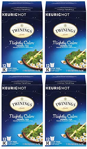 Twinings Nightly Calm K-Cups, 12 Count (Pack of 4)