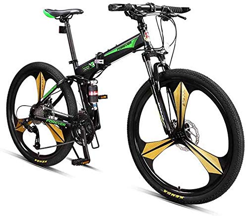 FEE-ZC Universal City Bike 26 Zoll 27-Gang-Faltrad mit doppelter Stoßdämpfung für Unisex-Erwachsene