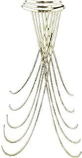 Gold Tone Body Chain Necklace Adjustable Fine Chain Sexy Summer Bikini Necklace